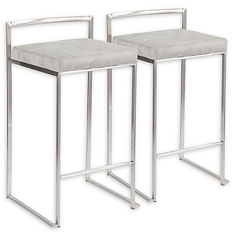Lumisource™ Faux Leather Upholstered Bar Stools (Set of 2) at Bed Bath & Beyond in Cypress, TX   Tuggl