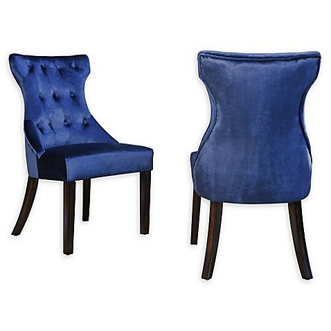 Chic Home Velvet Upholstered Dining Chairs (Set of 2) at Bed Bath & Beyond in Cypress, TX   Tuggl
