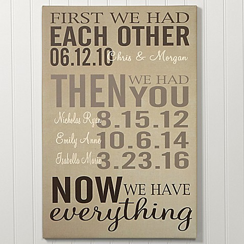 First Was Us Canvas Wall Art at Bed Bath & Beyond in Cypress, TX | Tuggl