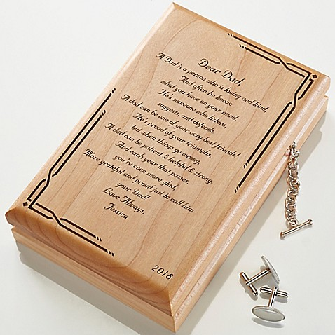 Dear Dad Engraved Wood Valet Box at Bed Bath & Beyond in Cypress, TX   Tuggl