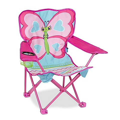 Melissa & Doug® Cutie Pie Butterfly Camp Chair in Multi at Bed Bath & Beyond in Cypress, TX | Tuggl