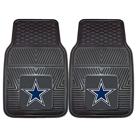 Nfl Dallas Cowboys Vinyl Car Mats Set Of 2 Bed Bath
