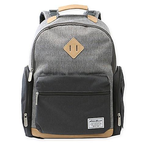 Eddie Bauer 174 Bridgeport Backpack Diaper Bag In Grey