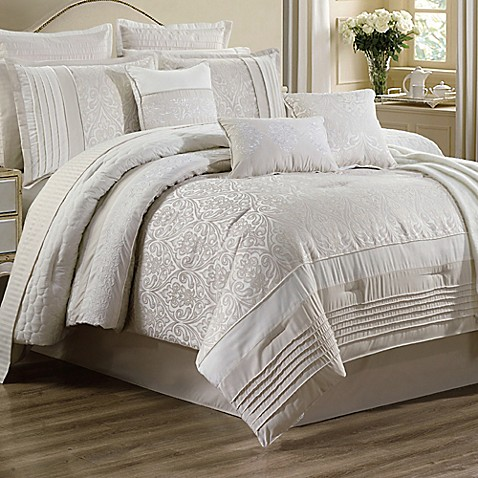 Umbria 14 Piece King Comforter Set In Ivory by Bed Bath And Beyond
