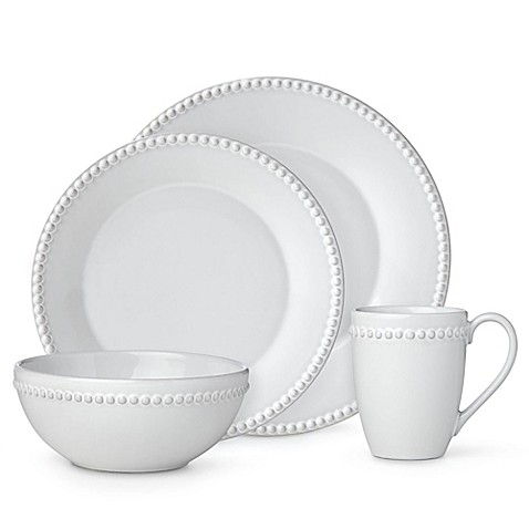 Lenox® French Carved™ Pearl Dinnerware Collection in White at Bed Bath & Beyond in Cypress, TX | Tuggl