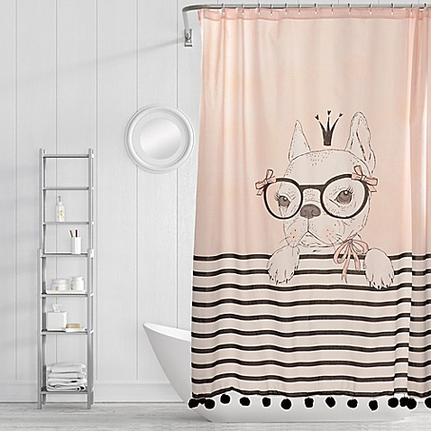 Simply Whimsical Princess Pup Shower Curtain in Pink at Bed Bath & Beyond in Cypress, TX | Tuggl