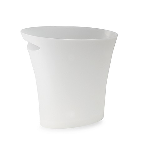 Umbra® Skinny 2 Gallon Wastebasket In Metallic White by Bed Bath And Beyond