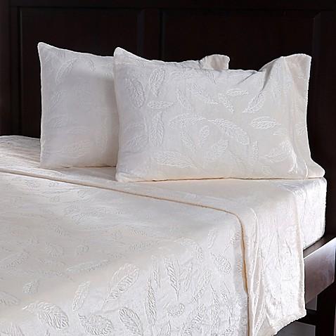 Berkshire VelvetLoft® Embossed Feather Sheet Set at Bed Bath & Beyond in Cypress, TX   Tuggl