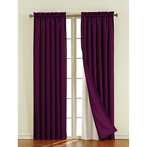 Sound Asleep Blackout Window Curtain Liner Pair Bed