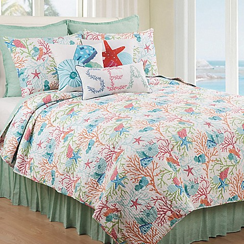 Caribbean Splash Reversible Quilt Set at Bed Bath & Beyond in Cypress, TX | Tuggl