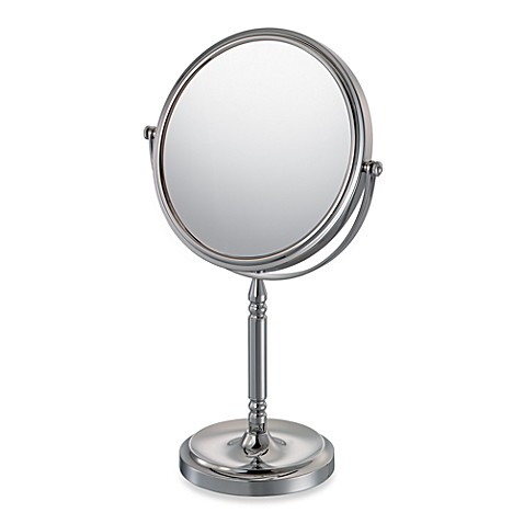 Mirror Image Recessed Base Vanity Mirror With 10x 1x Magnification Bed Bath Beyond