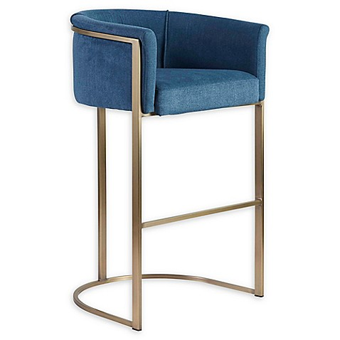 Euro Style® Marrisa Bar Stool in Blue at Bed Bath & Beyond in Cypress, TX   Tuggl