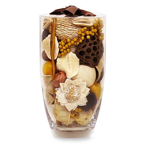 Nature 39 s inspirations glass vase potpourri in vanilla flower - Porta pout pourri ...
