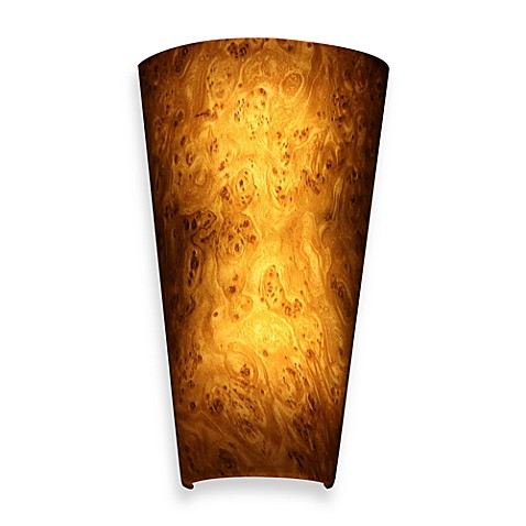 buy it 39 s exciting lighting battery powered led wall sconce in burlwood