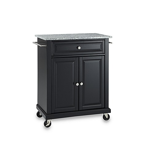 Buy Crosley Granite Top Rolling Portable Kitchen Cart Island In Black From Bed Bath Beyond