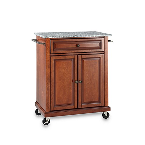 Buy Crosley Granite Top Rolling Portable Kitchen Cart Island In Cherry From Bed Bath Beyond