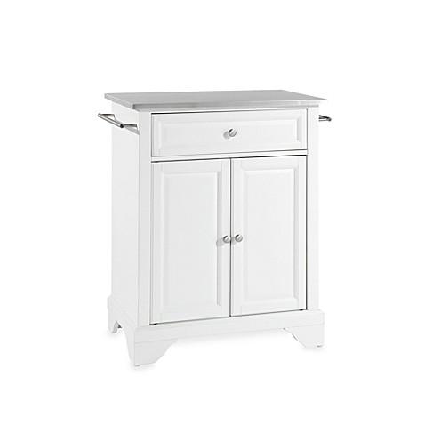 astonishing white portable kitchen islands | Buy Crosley LaFayette Stainless Steel Top Portable Kitchen ...