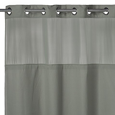 Buy Hookless Waffle 71 Inch X 74 Inch Fabric Shower Curtain In Sage From Bed Bath Beyond