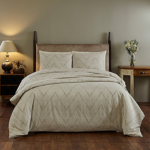 Amity Home Sadie King Duvet Cover in Taupe at Bed Bath & Beyond in Cypress, TX   Tuggl