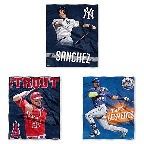 MLB Silk Touch Player Throw Blanket Collection   Tuggl