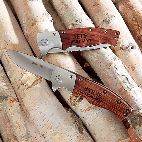 Sarge Groomsman Wooden Handle Folding Knife at Bed Bath & Beyond in Cypress, TX   Tuggl