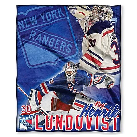 NHL New York Rangers Henrik Lundqvist Silk Touch Player Throw Blanket   Tuggl