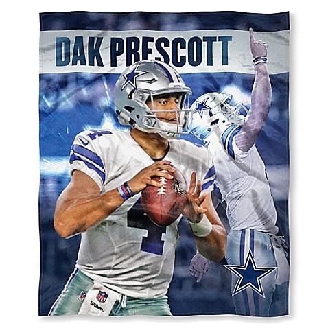 NFL Dallas Cowboys Dak Prescott Silk Touch Throw Blanket   Tuggl