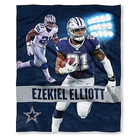 NFL Dallas Cowboys Ezekiel Elliott Silk Touch Throw Blanket   Tuggl