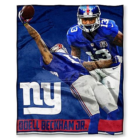 NFL New York Giants Odell Beckham Jr. Silk Touch Throw Blanket   Tuggl
