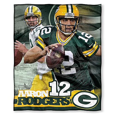 NFL Green Bay Packers Aaron Rodgers Silk Touch Throw Blanket   Tuggl
