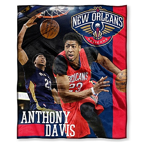 NBA New Orleans Pelicans Anthony Davis Silk Touch Throw Blanket   Tuggl