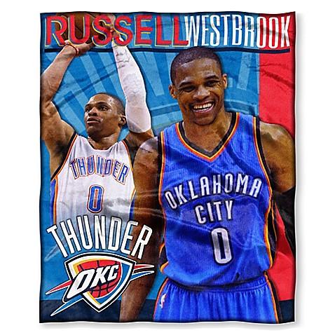 NBA Oklahoma City Thunder Russell Westbrook Silk Touch Throw Blanket   Tuggl