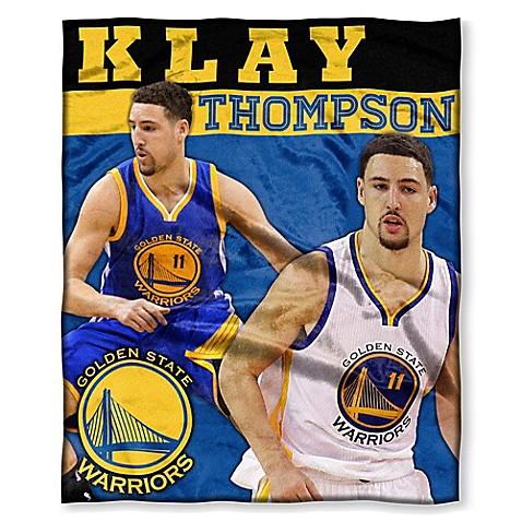 NBA Golden State Warriors Klay Thompson Silk Touch Throw Blanket   Tuggl