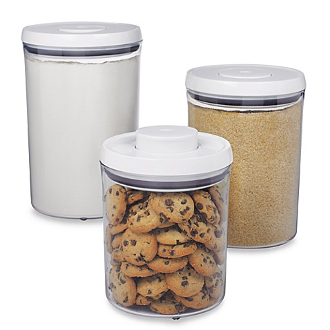 Buy Oxo Good Grips 174 3 Piece Pop Canister Set From Bed Bath