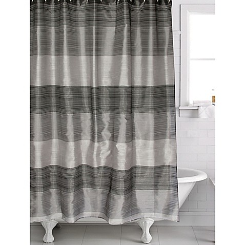 Famous HomeR Alys Shower Curtain In Black Grey At Bed Bath Beyond