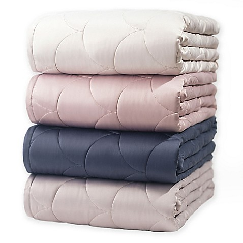 Nikki Chu LAYLA Reversible Brushed Velvet Down Alternative Blanket at Bed Bath & Beyond in Cypress, TX | Tuggl