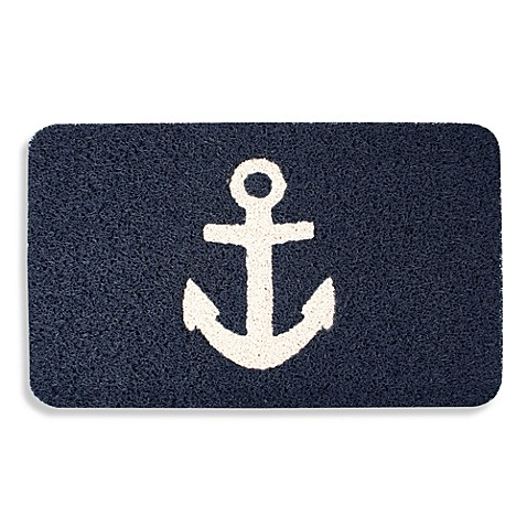 Kikkerland 174 Anchor 18 Inch X 30 Inch Door Mat Bed Bath