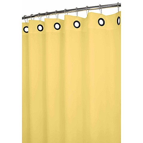 Park B Smith Dorset Yellow Large Grommet 72 Inch X 72 Inch Watershed Shower Curtain Bed