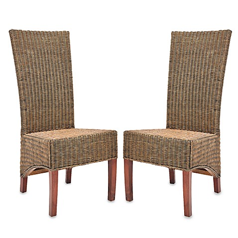 Safavieh Siesta Side Chairs In Honey Black Wicker Set Of 2 Bed Bath amp Beyond