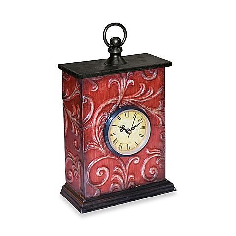 Embossed Vine Table Clock Bedbathandbeyond Com