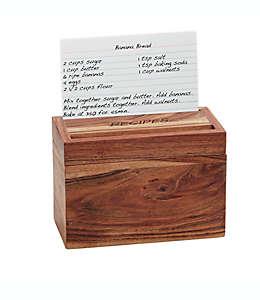 Caja para recetas de cocina Artisanal Kitchen Supply® de madera