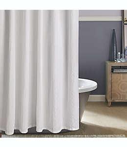 Cortina de baño Diamond Matelasse en blanco