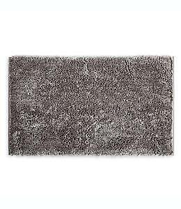 Tapete para baño de poliéster SALT™ de nudo grueso color gris