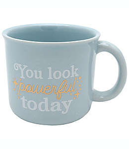 """Taza """"You look powerful today"""" color azul"""