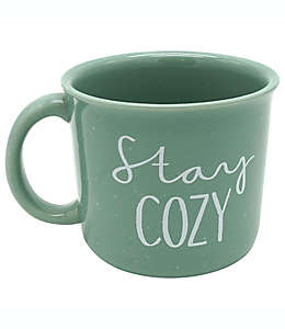 "Taza ""Stay Cozy"" color verde"