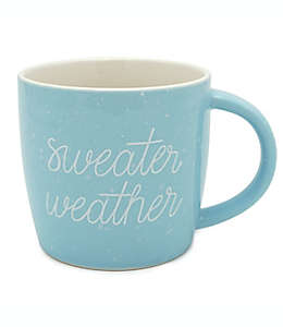 """Taza """"Sweater Weather"""" TMD color azul"""