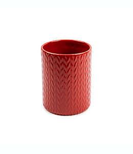 Contenedor de cerámica para utensilios Core Kitchen™ Holiday color rojo