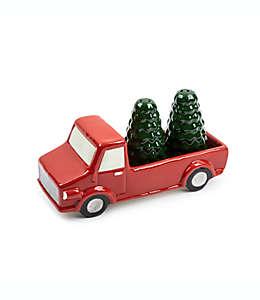 Set de salero y pimentero Core Kitchen™ Farm Truck en rojo/verde, 3 piezas