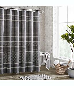 Cortina de baño de algodón Meera color gris