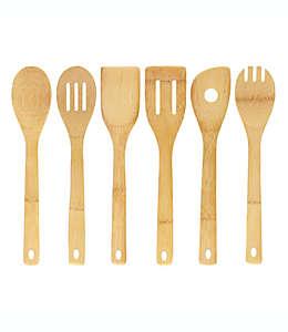 Utensilios de cocina de bambú Simply Essential, Set de 6 piezas
